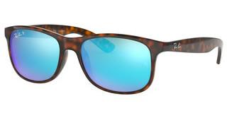 Ray-Ban RB4202 710/9R GREEN MIRROR BLUE POLARSHINY HAVANA