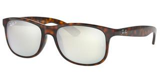 Ray-Ban RB4202 710/Y4 GREEN MIRROR SILVER POLARSHINY HAVANA