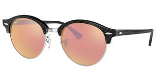 Ray-Ban RB4246 1197Z2 BROWN MIRROR PINKTOP WRINKLED BLACK ON BLACK