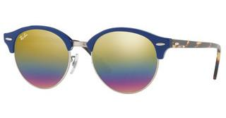 Ray-Ban RB4246 1223C4 LIGHT GREY MIRROR RAINBOW 3TOP BLUE ON TRASPARENT BLUE