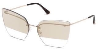 Tom Ford FT0682 28G braun verspiegeltrosé