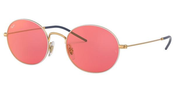Ray-Ban   RB3594 9093C8 PINK MIRROR REDGOLD ON TOP WHITE